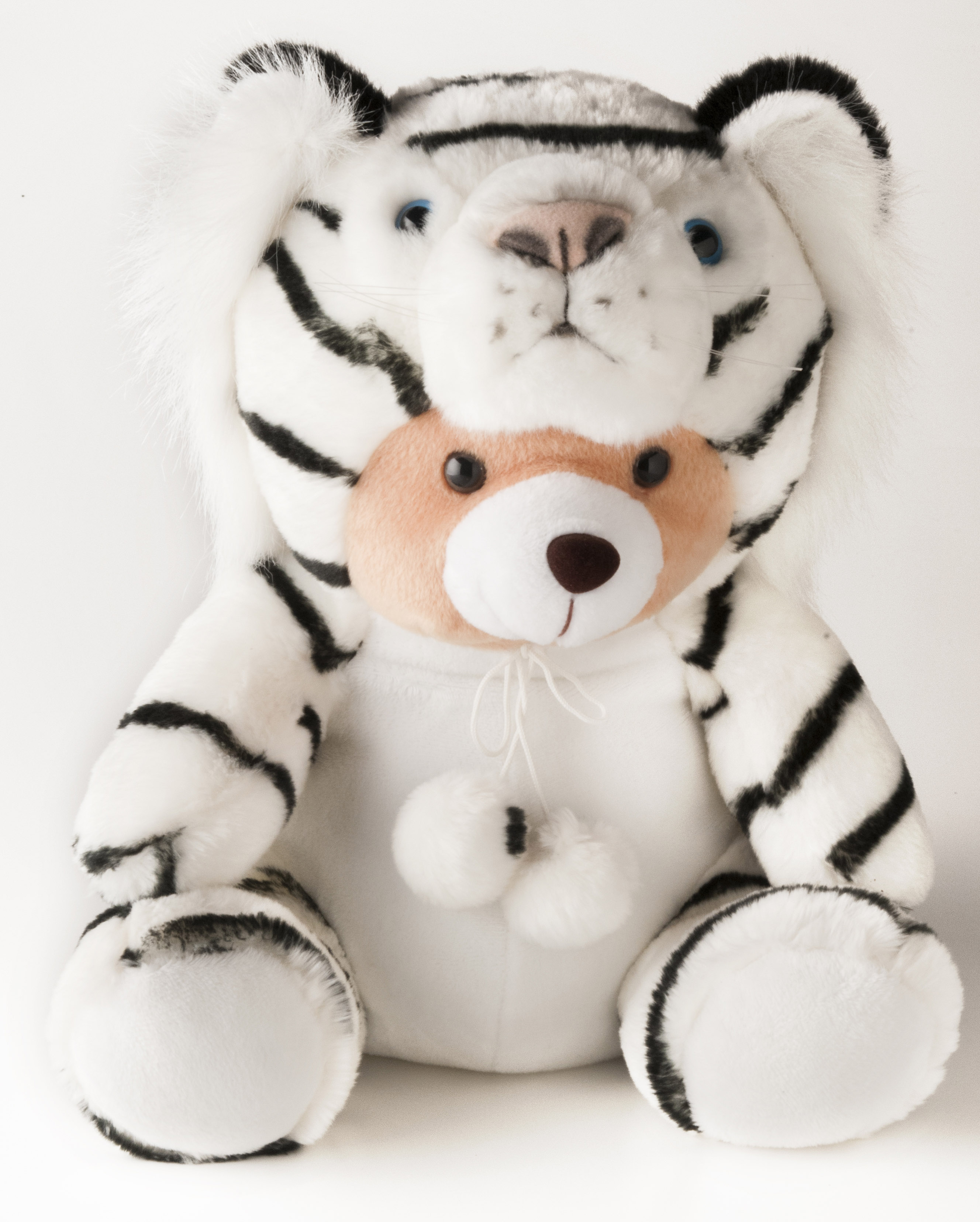 Sitting Bear 12 with Custome White Tiger