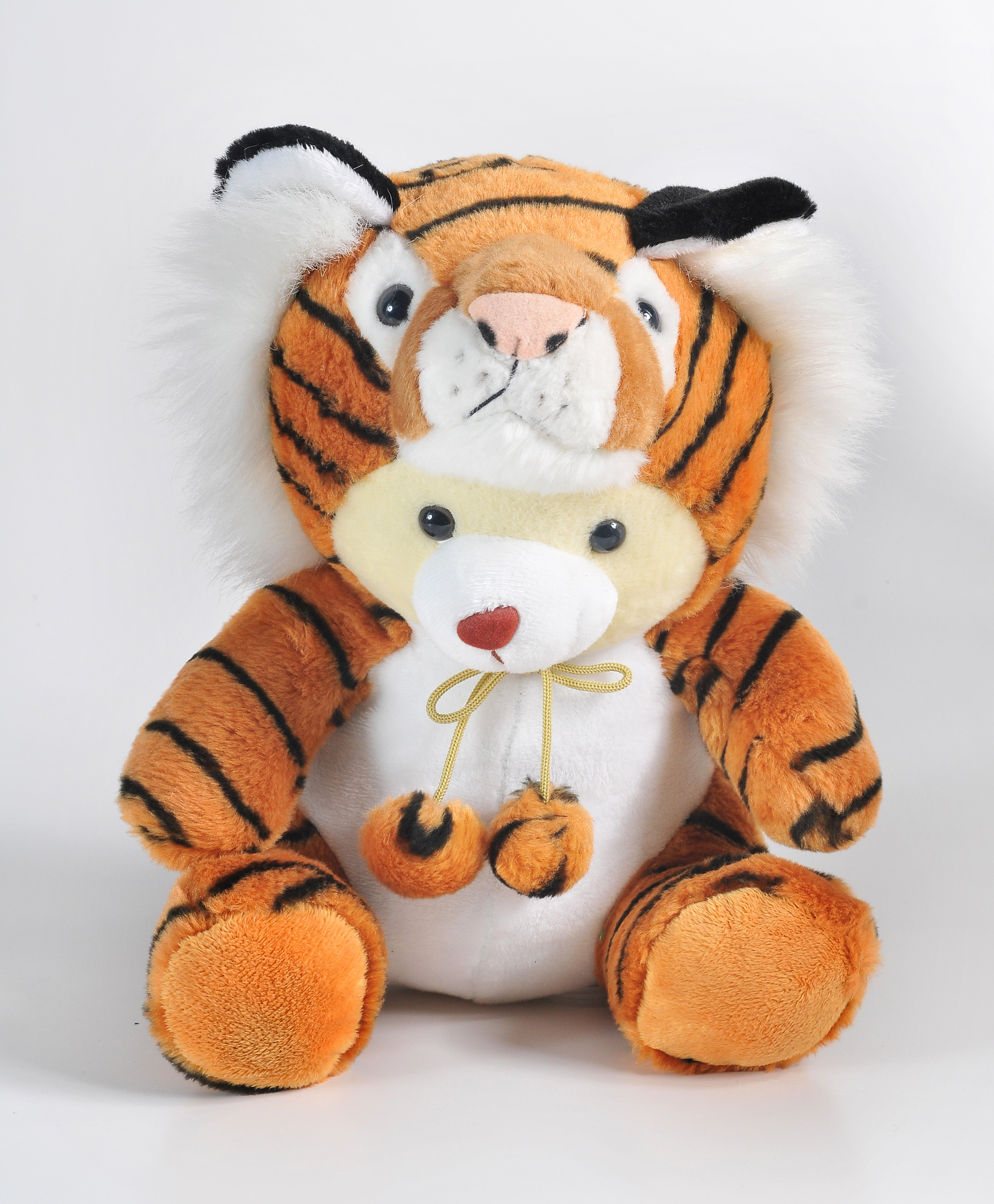 Sitting Bear With Costume Brown tiger