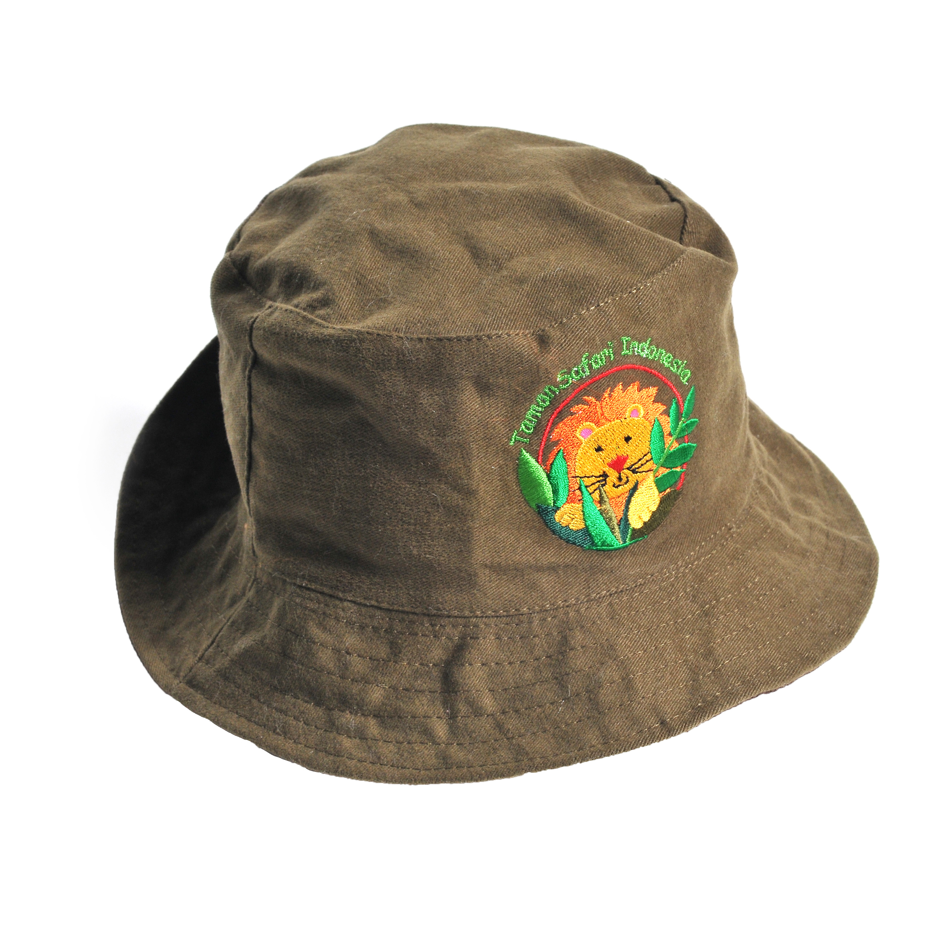 Topi Anak Bucket Double side Lion & Elephant
