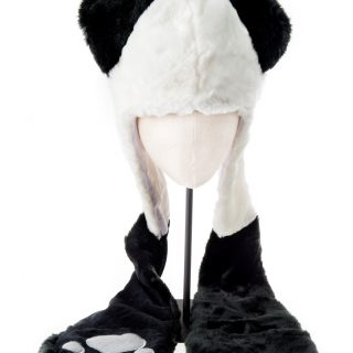 Panda Hoodie Hat with long legs