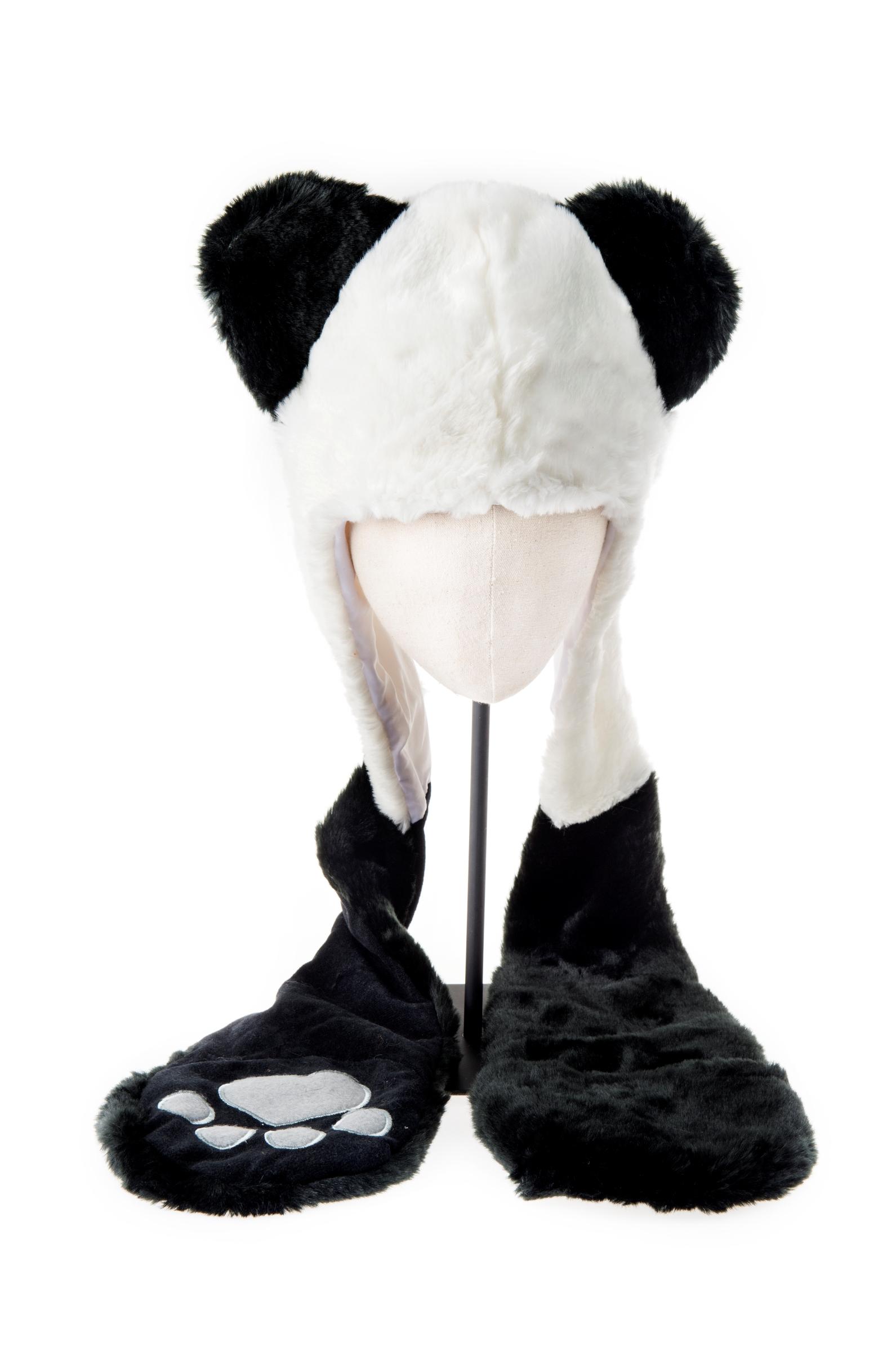 Panda Hoodie Hat with long legs