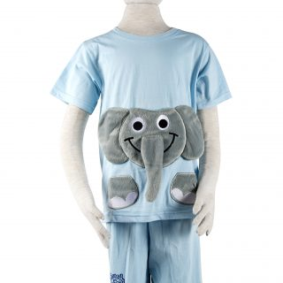 Children's Elephant Clothing Set in Blue L