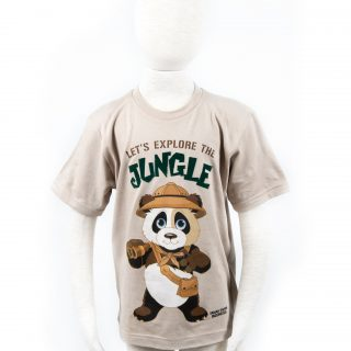 Children's Jungle Panda T-Shirt in Khaki L