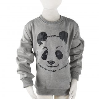 Children's Panda Sweatshirt in Grey L