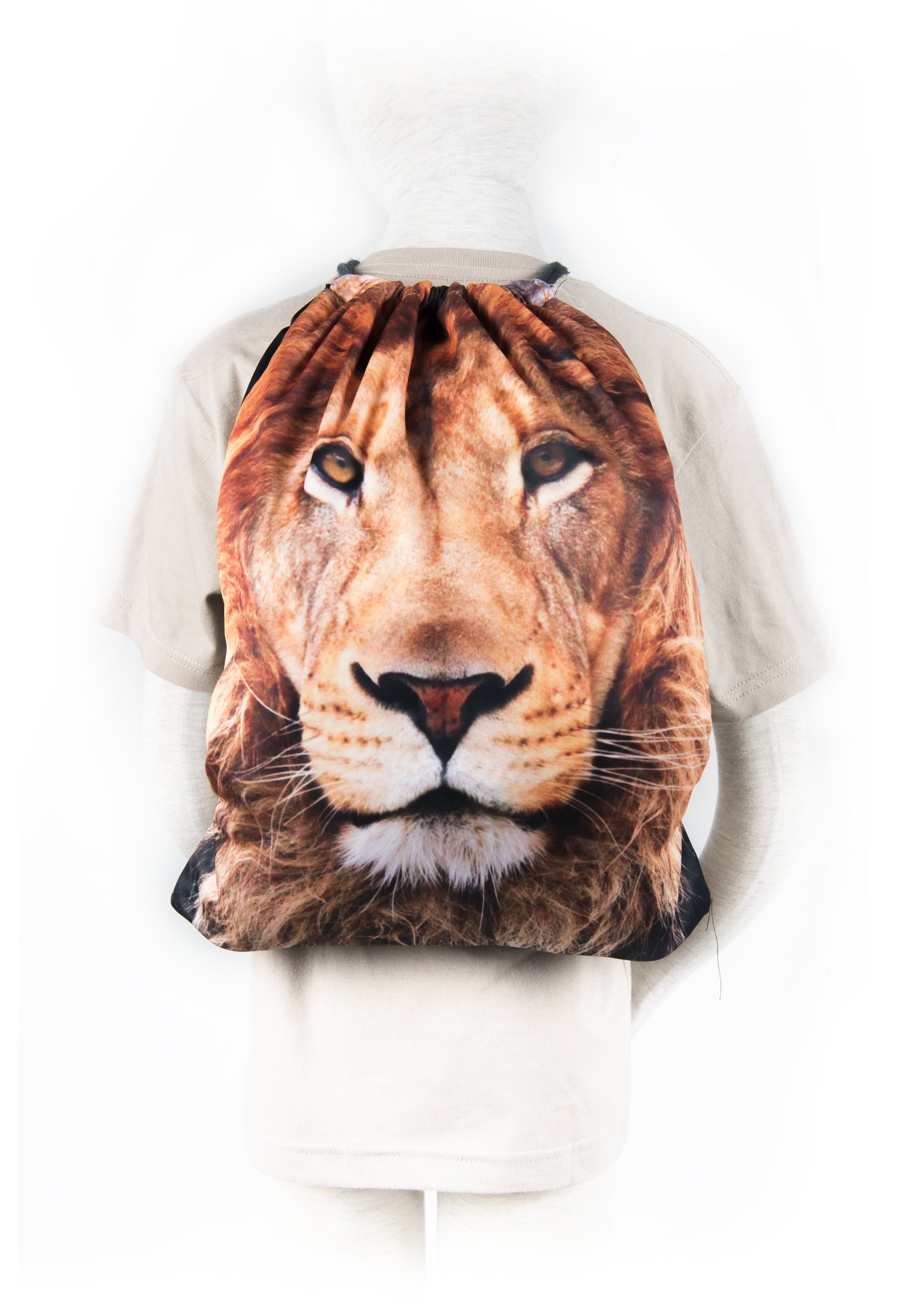 Lion Fabric Backpack
