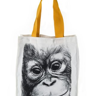 Orangutan Print Canvas Bag
