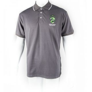 Panda Paw Polo Shirt in Dark Grey L
