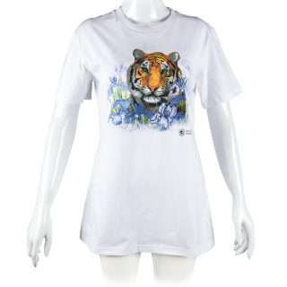 Women's White Tiger Tee in L