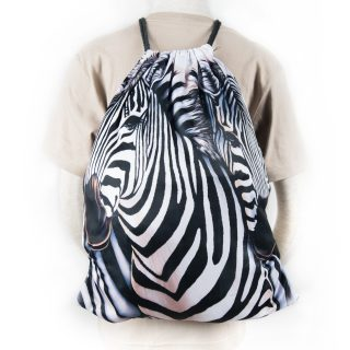 Zebra Fabric Backpack