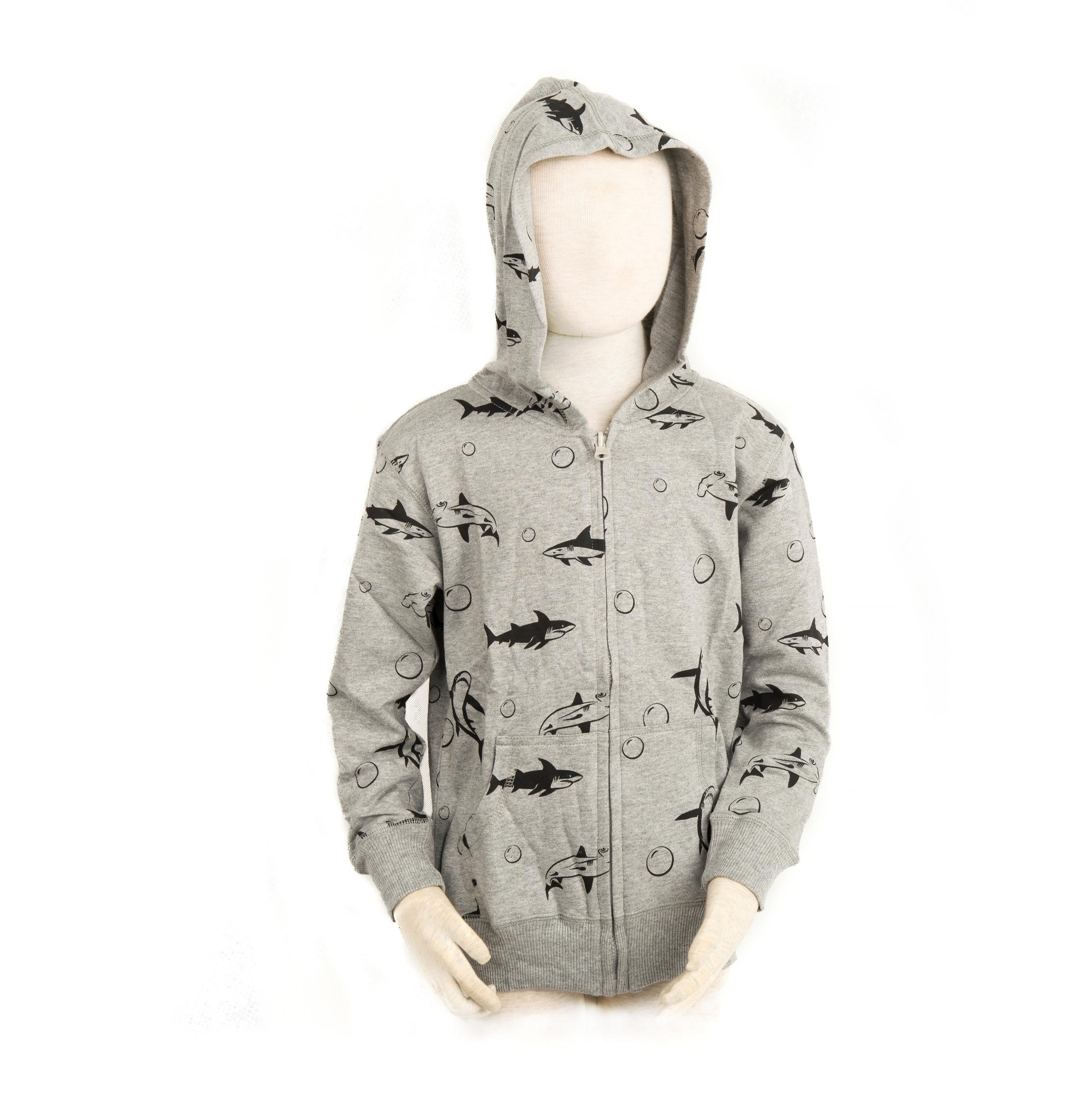 Children full print Shark Sweatshirt S