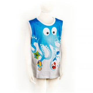 Children Octopus tanktop in White XL