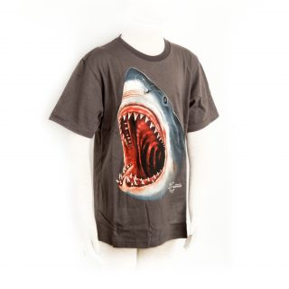 Children Shark attack Tshir in black XL