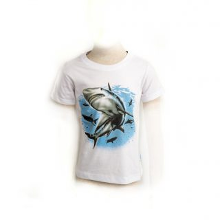 Children Shark in the blue Sea Tshirt XS