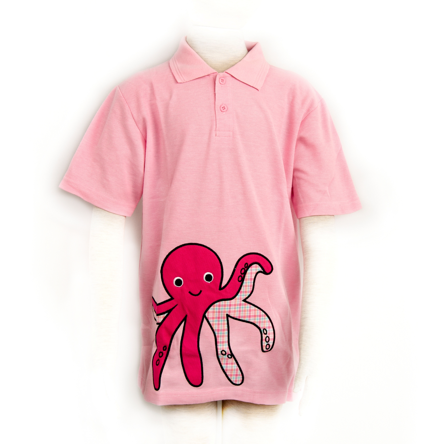 Girl Octopus Poloshirt in Pink XXL