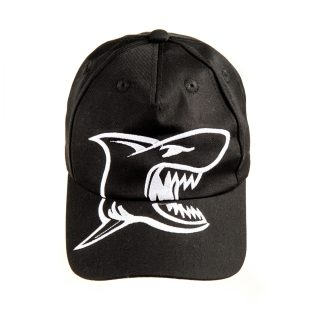 Kid Embroidery Shark cap in Black