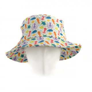 Kid Sea animal bucket Hat in white