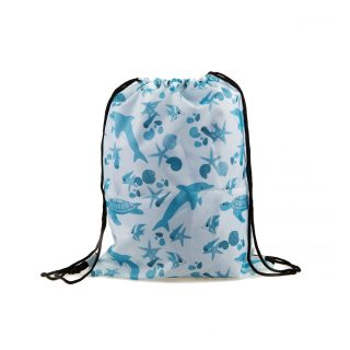 Sea animal pattern 1 drawstring bag