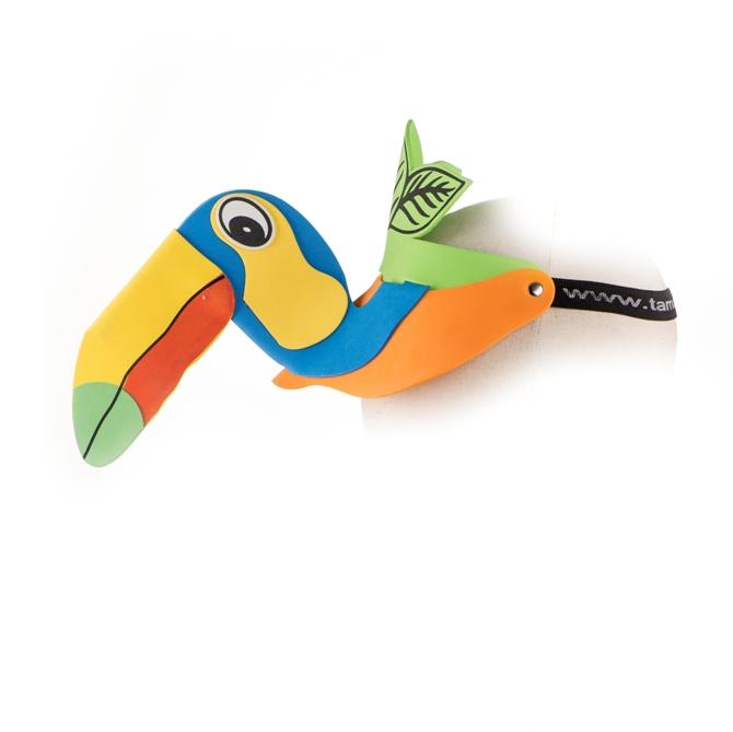 17. Topi busa burung macaw