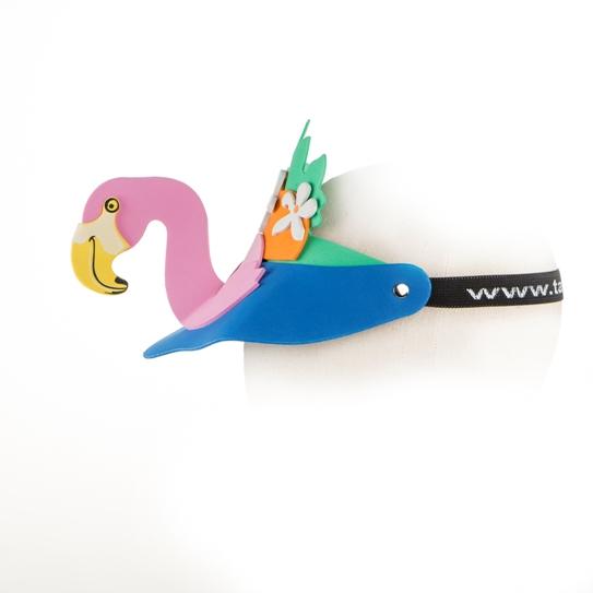 18. Topi busa flamingo