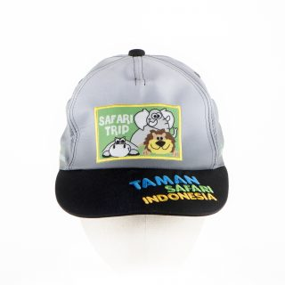 28. Topi cap anak print plus bordir Safari trip