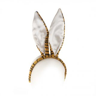 3. Bunny head band in tiger pattern