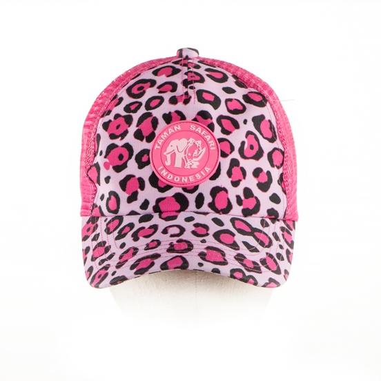 30. Topi Cap Leopard Pink logo TSI