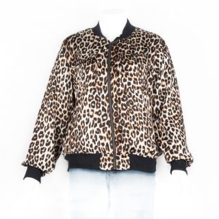 38. Animal Leopard pattern jacket L