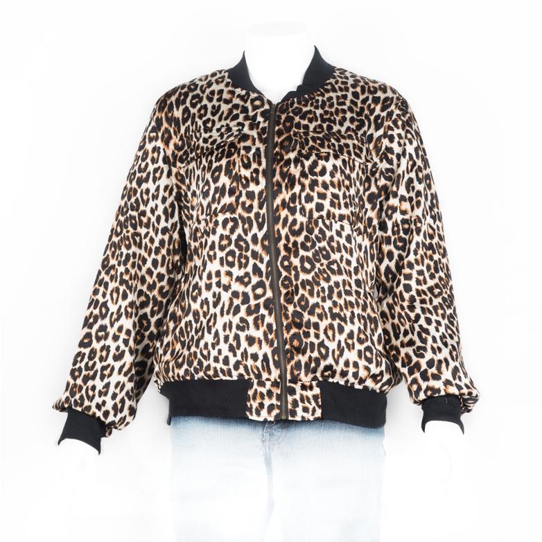 38. Animal Leopard pattern jacket L