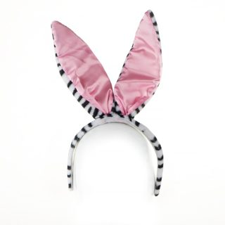 4. Bunny head band in zebra pattern