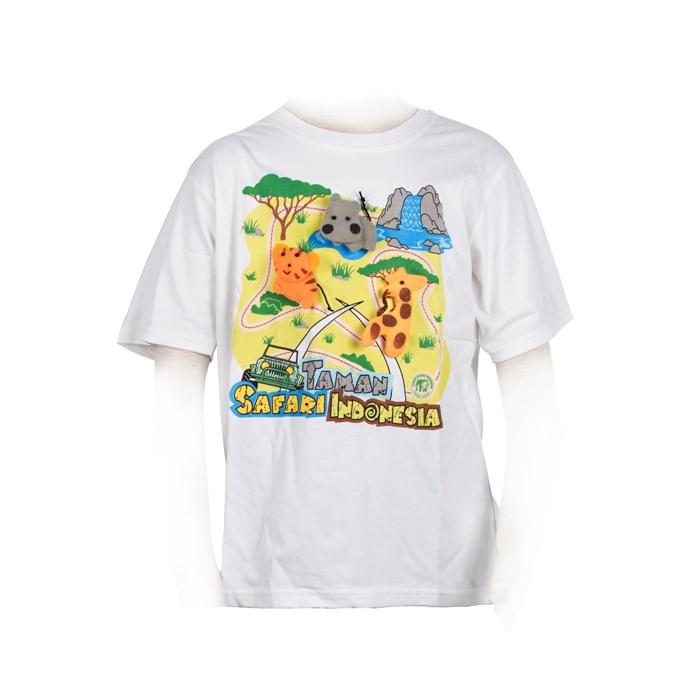 Tshirt Anak 3 boneka putih XL