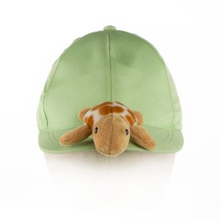 64. Kids cap with stuffed Turtle