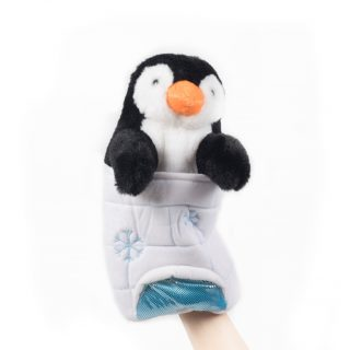 65. Penguin handpuppet in iglo (15660)